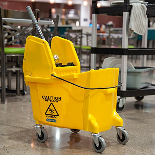Carlisle 3690504 Commercial Mop Bucket With Down Press Wringer, 35 Quart Capacity, Yellow by Carlisle (Image #9)