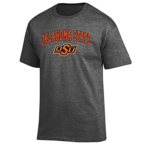 Elite Fan Oklahoma State Cowboys Men's Short Sleeve Arch Tee, Dark Heather, Medium