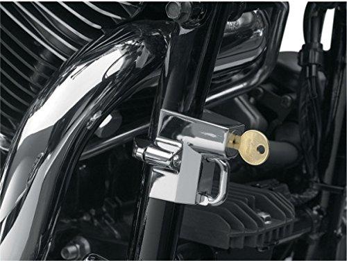 Antivol Bloque-Casque à 32 mm Chrome 38 mm x H) Pour Harley Honda Yamaha Kawasaki Suzuki Triumph Indian Victory Motorcycle Storehouse 541361