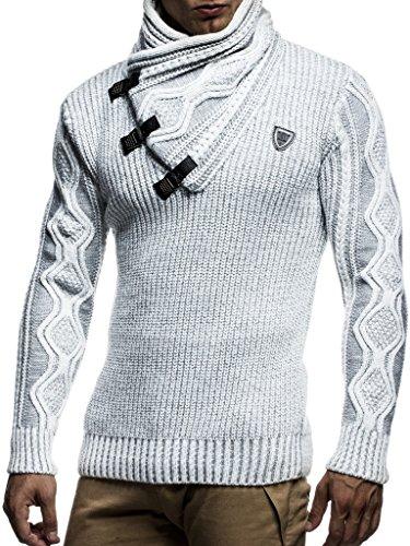 Tricot Ecru Sweat Pullover Sweater Hoodie Nelson En Sweatshirt Des Pull grau Hommes Grobstrick Ln5195 Leif Pour q6p8xwCF