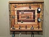 Rustic Jewelry Wall Organizer / Jewelry Storage / Jewelry Organizer / Decorative Jewelry Holder / Wood Jewelry Organizer/ Rustic Wood Storage