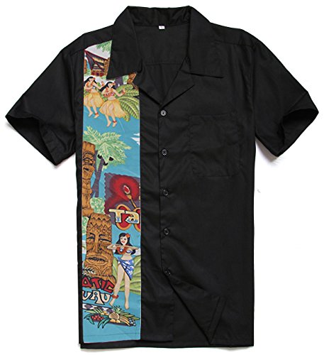 Cotton Shirt Easter Look Homme Rockabilly Candow Chemise Novelty Pattern 4q08nxxzw