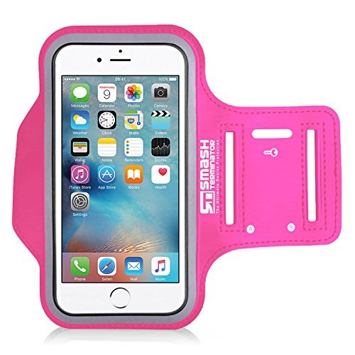 Price comparison product image iPod Touch Running Jogging Armband, Neoprene Sports Gym Arm band for iPod Touch 1st to 7th Gen 8gb, 16gb, 32gb & 64gb with Key Holder and Reflective Strip (As Seen in Runners World Magazine - 5 Stars)