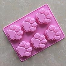 OUYANG Dog footprints silicone Cake mould 2pcs