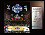NCAA Villanova Wildcats Basketball 2016 National Champions Plaque, 12'' x 15'', Brown