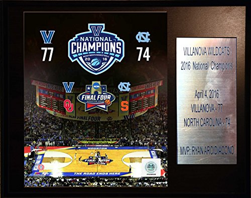 C&I Collectables NCAA Villanova Wildcats Basketball 2016 National Champions Plaque, 12