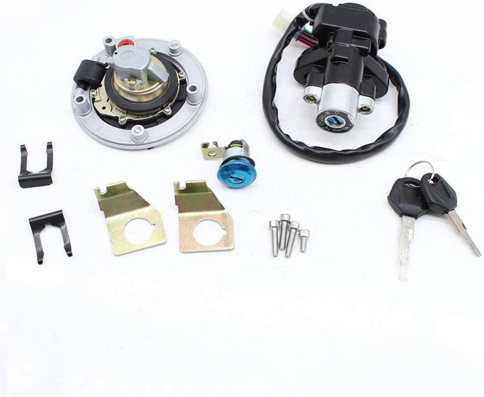 Eapmic Ignition Switch Fuel Seat Gas Petrol Cap Cover Seat Lock Keys Set for Suzuki GSXR 600 750 1000