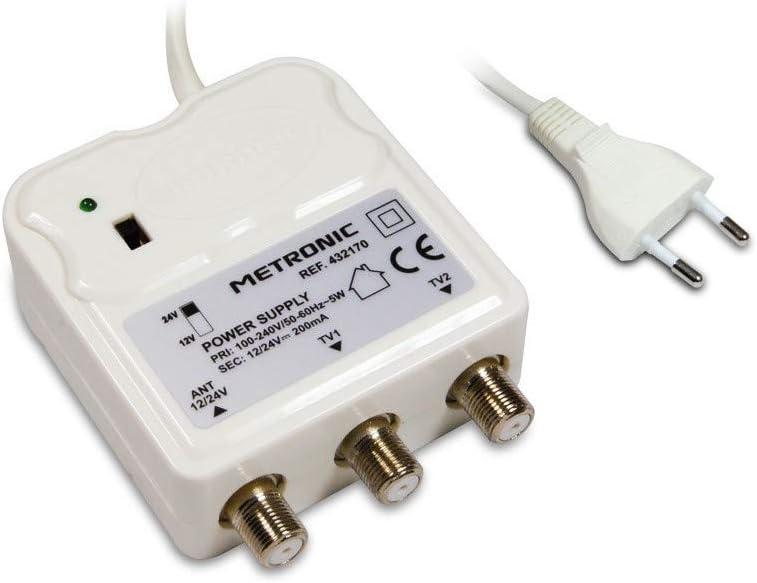 Metronic 432170 - Fuente de alimentación para amplificadores de TV (12-24 V)