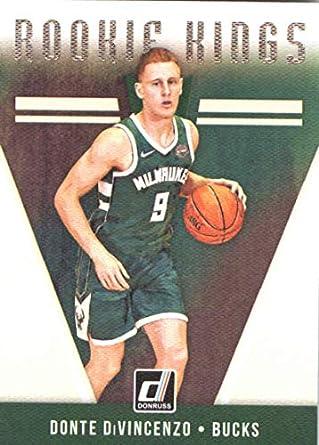 0a0cbd7b966 2018-19 Donruss Rookie Kings  23 Donte DiVincenzo Milwaukee Bucks RC NBA  Basketball Trading