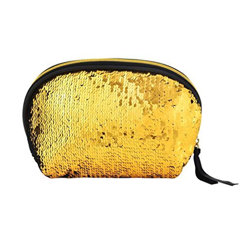 Girls Holder Card Voberry Purse Ladies Gold Sequins Coin Women Double Color Pouch Bag Wallet zrz86Hwx5q