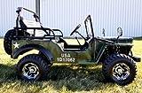 125cc Chrome Jeep GoKart (Green Camo)