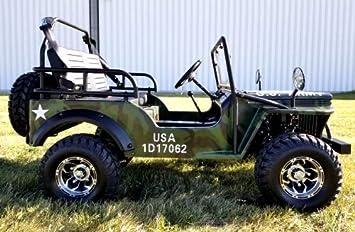 125cc Chrome Jeep GoKart