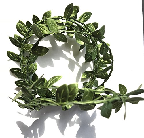 Elegant Blooms & Things Small Green Boxwood Leaf Faux WIre Garland, Home, Office, Wedding decor, Wedding cake decor ()
