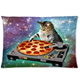 Custom Pillowcase DIY Fashion classic POP Space Cats and pizza Pillowcases Pillowslips Roomy in Size 20