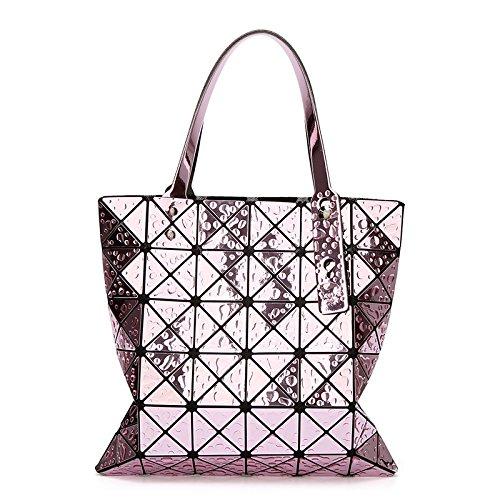Main 6 à Sac à Couture Sac Purple WLFHM Bandoulière Main Main Diamant Géométrique Sac à Sac 6 Pliable à SOE8X