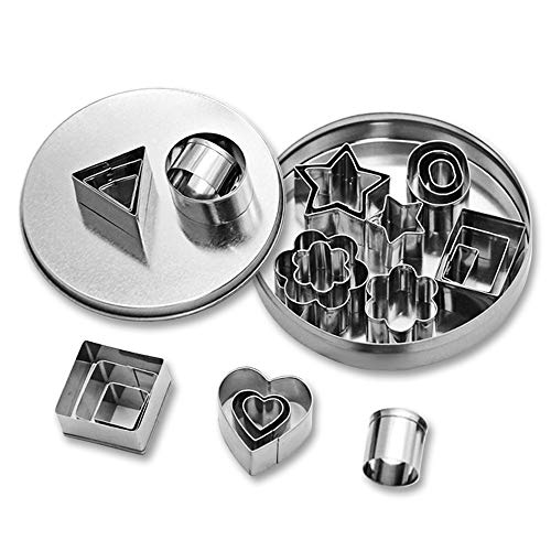 - Geometric Shapes Cookie Cutters Stainless steel Cake Cookie Baking Diy Mould Biscuit Cutter (24)