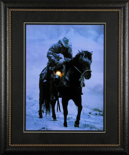 Winter Save David Stoecklein 23x29 Gallery Quality Framed Print Western Cowboy Picture