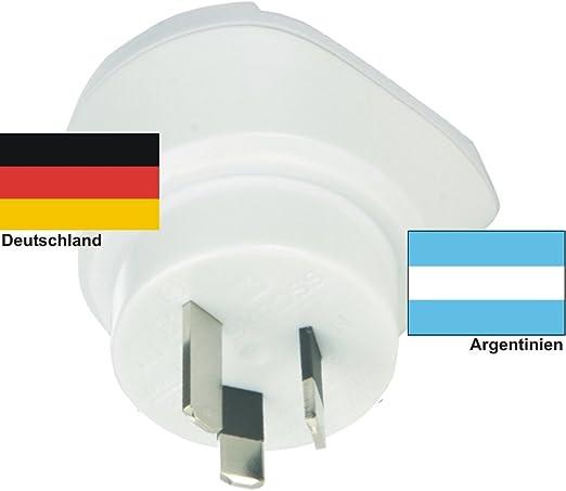 Enchufe de Viaje de Diseño Adaptador para Argentina con Alemania 230 V Conmutador de Viaje AR-D: Amazon.es: Bricolaje y herramientas