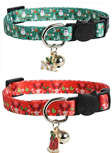 JPB Cat Collar Breakaway in Christmas Style 2 Pack