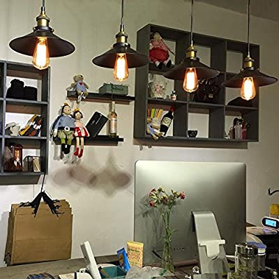 Hengshitong Vintage Retro Chandelier Industrial Copper & Iron Hung Lamp - American Country Style Creative Loft Pendant Light Hanging Ceiling Lamp Shade for Warehouse & Home & Corridor Aisle