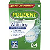 Polident Overnight Whitening Denture Cleanser-84 ct