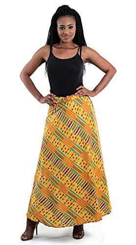 African Kente Print Wrap Skirt - Pattern 1