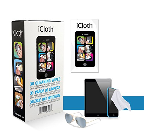 iCloth Lens and Screen Cleaner | 30 wipe box(each wipe 9cm x 13cm - 1 ml fill) For use on Glasses, Chromebooks, Tablets, Smartphones, Sunglasses, Eyeglasses, Cameras and other Small electronics - iC30 (Samsung Smart Tv Touch Screen)