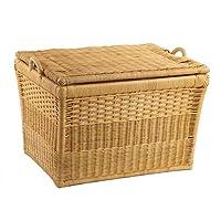 The Basket Lady Lift-Off Lid Wicker Storage Basket