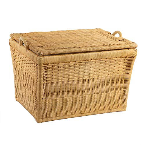 (The Basket Lady Lift-off Lid Wicker Storage Basket, Large, Toasted Oat)