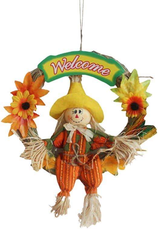 LIOOBO – Espantapájaros Colgante espantapájaros Adorno espantapájaros Guirnalda Halloween Thanksgiving decoración otoño Cosecha decoración para Fiesta Escuela Home Bar jardín (pequeño/Macho): Amazon.es: Hogar
