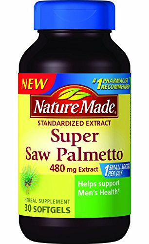 Nature Made Super Saw Palmetto Extract Liquid Soft-gel, 480 Mg, 30 Count pack of 3