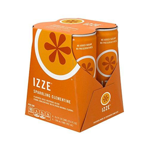 Sparkling Beverage (IZZE Sparkling Juice, Clementine, 8.4 oz Cans, 4 Count)