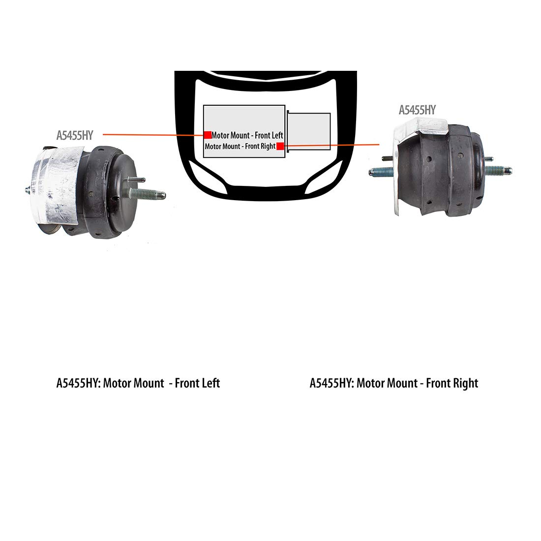 DNJ MMK1083 Complete Enigne Motor Mount Front L /& R kit for 2003-2010 Cadillac//SRX,STS,CTS //3.2L 6.0L