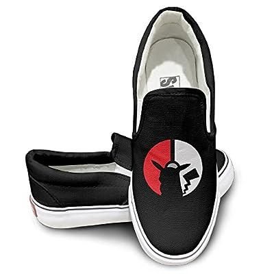 PTCY Pokemon Go Pikachu Skate Unisex Flat Canvas Shoes Sneaker Black