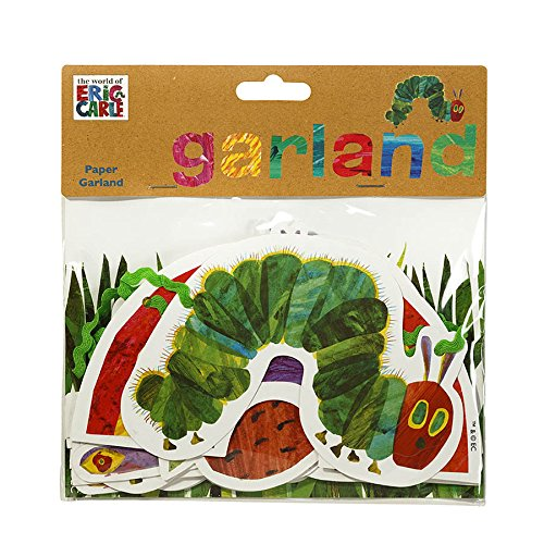 World of Eric Carle, The Very Hungry Caterpillar Party Supplies, Garland Decoration, Paper, 3M - TVHC-GARLAND -