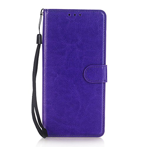 Daker Note 8 Wallet Case [Stand Feature] Wallet Series [Card Slot + Side Pocket] Premium PU Leather Flip Wallet Protective Case Magnetic Closure With Card Slots for Samsung Galaxy Note 8 (Purple)