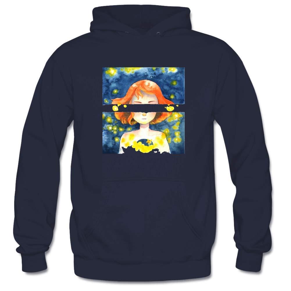 Mens Blinding Star Hooded Sweatshirt Funny Printed Pullover Hoodies Classic Long Sleeve T Shirt Tops