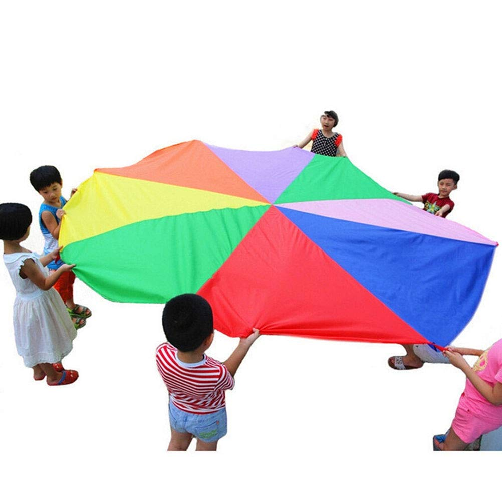 Nike Air M - Kids Play Rainbow Parachute Children Outdoor Game Exercise Sport 2m 5m - Rainbow Games Cord Game Outdoor Pants Book Parachute Adults Foot Kids