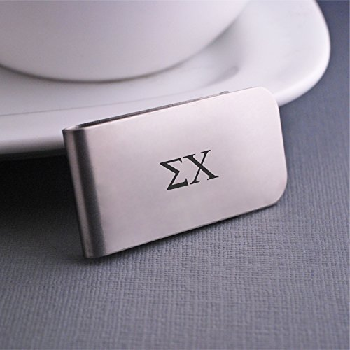 Sigma Chi Stainless Steel Money Clip Officially Licensed Fraternity - Gift Fraternity