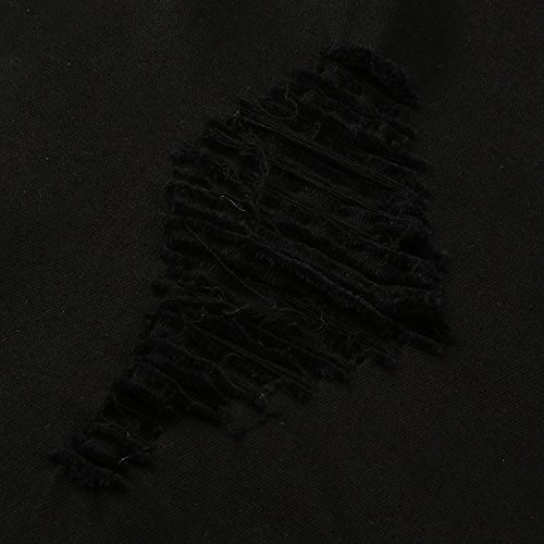 Denim Pantalons Pieds Hommes Zippés Noir Jeans Éclair Effiloché À Pantalon Homme Skinny En kinlene Déchiré Slim Pour Fermeture Biker A5qwrAp6