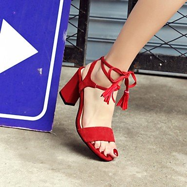 LvYuan sandalias de la oficina de los zapatos del club de cuero primavera verano&parte de carrera&noche con cordones Black