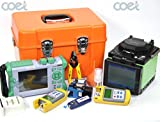 Fiber Splicing Machine FX35 Fusion Splicer Fibra encoladora de la fusión + QX50-S Fiber Optic OTDR Optical Time Domain Reflectometer + Optic Power Meter + Laser Source + KFL-10-1 NW