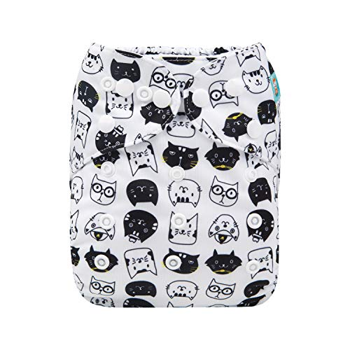 ALVABABY Cloth Diapers One Size Adjustable Washable Reusable One Pocket Nappy for Baby Girls and Boys with 2 Inserts H163