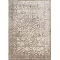 Loloi Rugs Anastasia Collection Area Rug Runner, 27 by 4, Grey/Sage