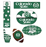 Colorado State Rams 6 Piece Peel & Stick Decal Tailgate Set