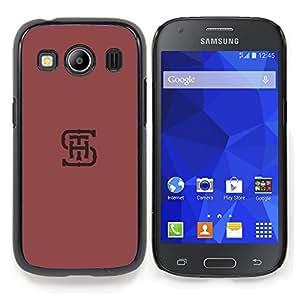 """For Samsung Galaxy Ace Style LTE/ G357 Case , S H T Iniciales Letras Rojo del marrón minimalista"""" - Diseño Patrón Teléfono Caso Cubierta Case Bumper Duro Protección Case Cover Funda"""