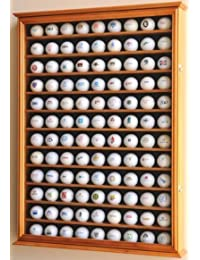 108 pelota de golf pantalla Case Gabinete Wall Rack Holder w 98% de protección UV con cerradura