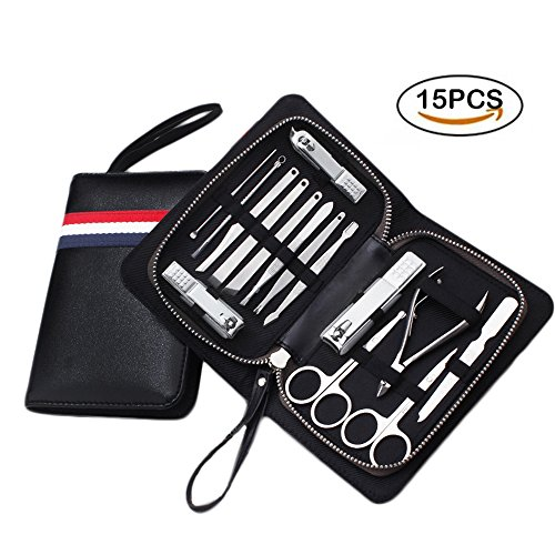 Stainless 10-in-1 Manicure Set with Case Set of 3 - 7