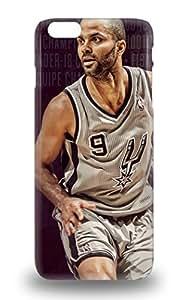 Hot New NBA San Antonio Spurs Tony Parker #9 Case Cover For Iphone 6 Plus With Perfect Design 3D PC Soft Case