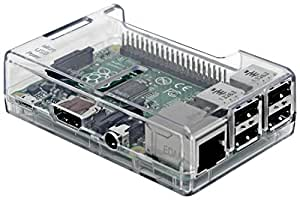 SB Components Clear Case for Raspberry Pi 3 Model B Quad Core/Pi 2 Model B/Pi Model B+ Cases